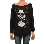 Josh Stebbins Women's Sad Mouse Oversized Unfinished Sweatshirt