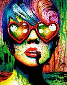 Carissa Rose Electric Wasteland Portrait Canvas Giclee
