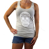 Day of the Dead racerback tank top.