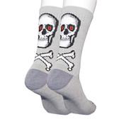 Men's Skull and Crossbones Crew Socks