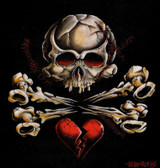 Cormack Canvas Giclee - Stitched Skull