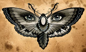Thea Fear - Butterfly Eyes - Canvas Giclee