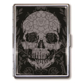 Gothic Skull Day of the Dead Cigarette Case Business Card Holder Wallet