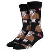 Socksmith Men's Crew Socks Monkey Biz Black