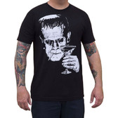 Frankenstein Monster Martini by Mike Bell Men's Black Tee Shirt