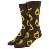 Men's Crew Socks Avocado Heather Brown