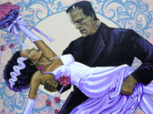 The Wedding by Mike Bell Canvas Giclee Art Print Bride of Frankenstein Monster