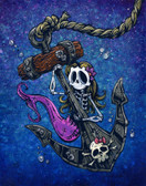 La Sirena by David Lozeau Canvas Giclee Skull and Anchor