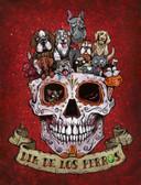 Dia De Los Perros by David Lozeau Canvas Giclee Day of the Dead Dogs Sugar Skull