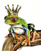 The Real Prince by Manuela Lai Canvas Giclee Art Print Crowned Tree Frog