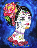 Haunting Beauty by Melody Smith Canvas Giclee Art Print Tattooed Woman