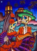 Dark Desert Highway by Dave Sanchez Canvas Giclee Art Print Day of the Dead Sugar Skull