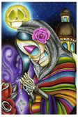 Pray For Us by Dave Sanchez Fine Art Print Day of the Dead Sugar Skull