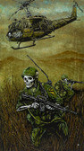 1st Air Cav by David Lozeau Canvas Giclee Art Print Army Soldiers Skeletons