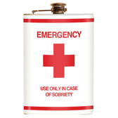 Emergency Novelty Retro Stainless Steel Flask