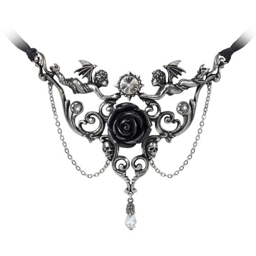 Alchemy gothic mesukmus cherub angels black rose pendant necklace alchemy gothic mesukmus cherub angels black rose pendant necklace pewter jewelry p795 aloadofball Choice Image