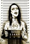 MM Shock Rocker Marilyn Manson Mugshot by Marcus Jones Screaming Demons Canvas Giclee Art Print