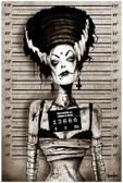 Bride of Frankenstein Mugshot by Marcus Jones Screaming Demons Fine Tattoo Art Print