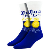 Men's Crew Socks Corona Lager Beer Blue