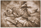Ghost Rider Skull Horse Skeleton by Dan Scholz Tattoo Fine Art Print