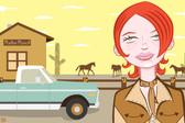 Rodeo Sweetheart Rockabilly Cowgirl by Tom Vadakan Tattoo Fine Art Print
