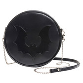 Alchemy Gothic Black Bat Shoulder Bag Faux Leather Purse GB2