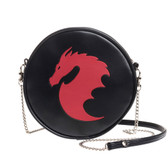 Alchemy Gothic Red Dragon Shoulder Bag Faux Leather Purse GB6