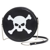 Alchemy Gothic Skull and Crossbones Shoulder Bag Faux Leather Purse GB7