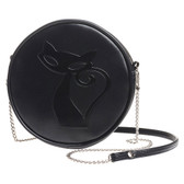 Alchemy Gothic Black Cat Shoulder Bag Faux Leather Purse GB8