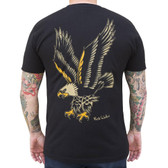 Eagle by Rick Walters Men's Black Tattoo Tee Shirt