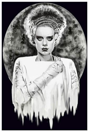 Monsters Bride by Shayne of the Dead Bohner Fine Art Print Frankenstein