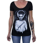 Monster's Bride by Shayne of the Dead Bohner Women's Tee Shirt Frankenstein Mummy