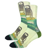 Men's Crew Socks Surfing Sloth Active Footwear
