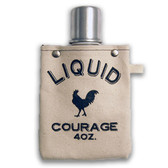 Liquid Courage 4oz Canvas Canteen Flask Travel Beverage Container