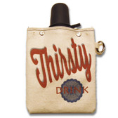Thirsty Drink 8oz Canvas Canteen Flask Travel Beverage Container