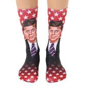 Unisex Men's or Women's Crew Socks President JFK John F Kennedy