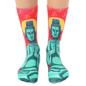 Unisex Men's or Women's Crew Socks Buddha Meditation Symbol