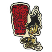 Shawn Dickinson Savage Beat Tiki Pin Up Girl Patch Embroidered Iron On Applique