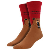 Men's Crew Socks Hangry Bear Red