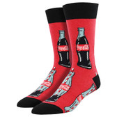 Men's Crew Socks Coca Cola Coke Good To The Last Drop Red