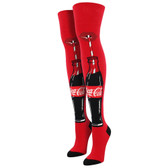 Women's Over The Knee Socks Coca Cola Coke Just A Sip Red