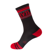 Women's or Men's Crew Socks Evil