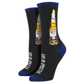 Women's Crew Socks Coronavidad Holiday Christmas Lights Corona Beer Bottle