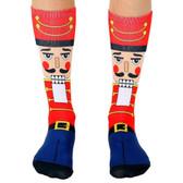 Unisex Men's or Women's Crew Socks Holiday Christmas Nutcracker Soldier