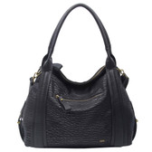 The Anna Tote Hobo Black Purse Cross Body Handbag