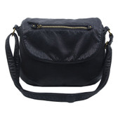 The Bonnie Saddle Crossbody Shoulder Bag Purse Black