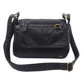 The Willma Crossbody Shoulder Bag Purse Black