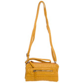 Wristlet Crossbody Shoulder Bag Clutch Purse Mustard Yellow