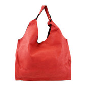 2 in 1 Redish Pink Faux Leather Hobo Purse with Medium Shoulder Bag