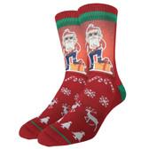 Men's Crew Socks Hip Santa Claus Christmas Holiday Active Footwear